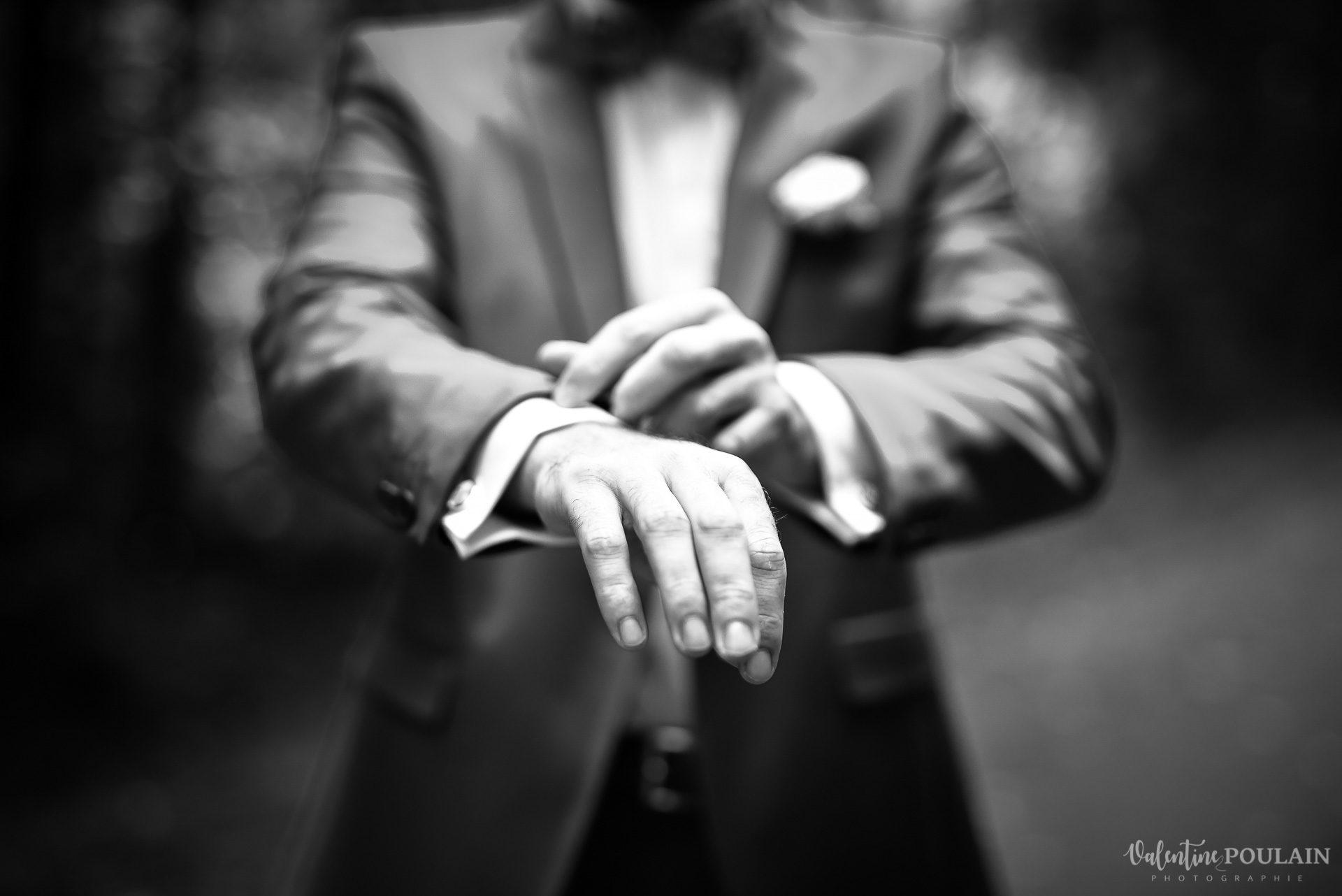 Mariage basketteurs - Valentine Poulain mains