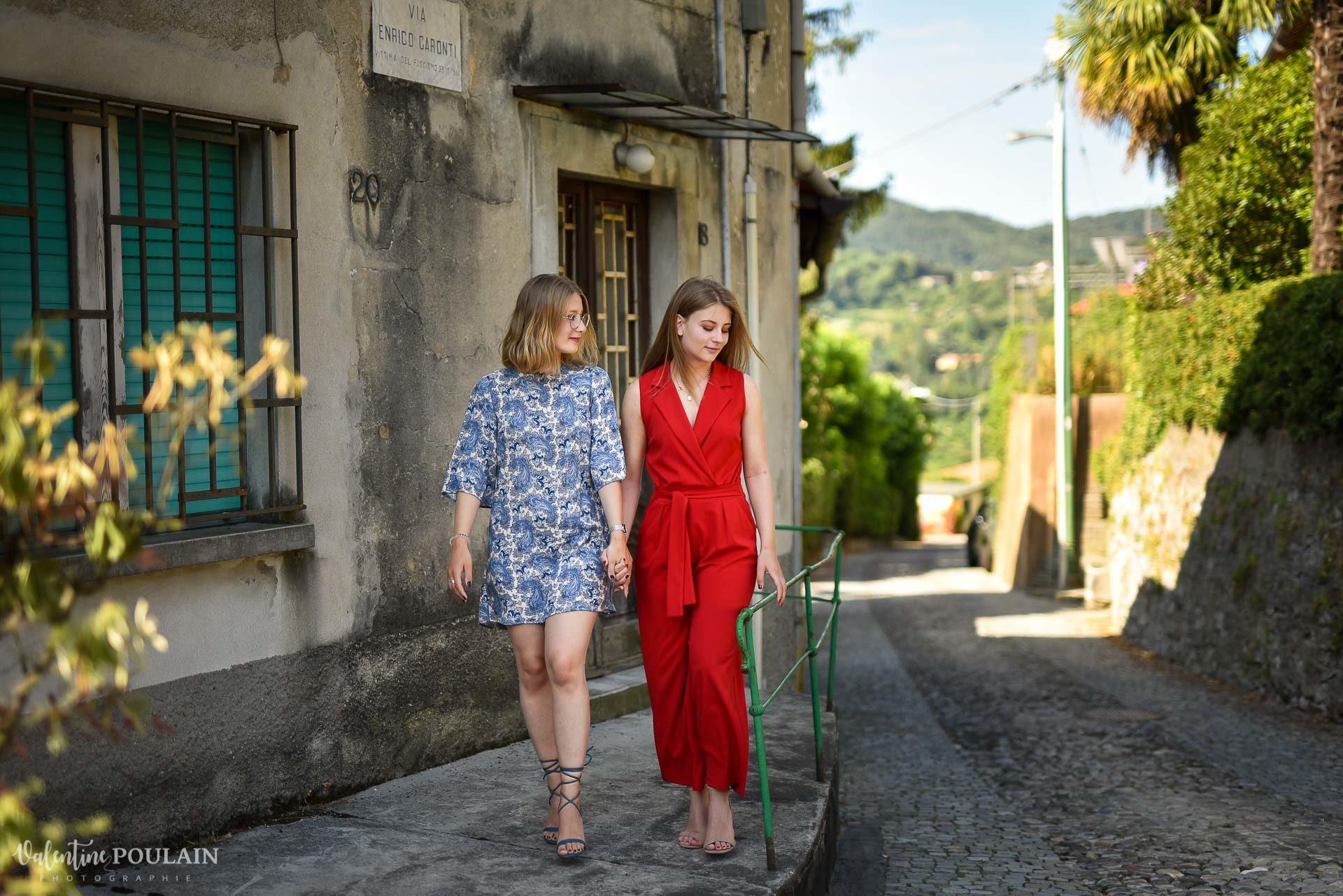 Shooting soeurs Italie - Valentine Poulain marcher