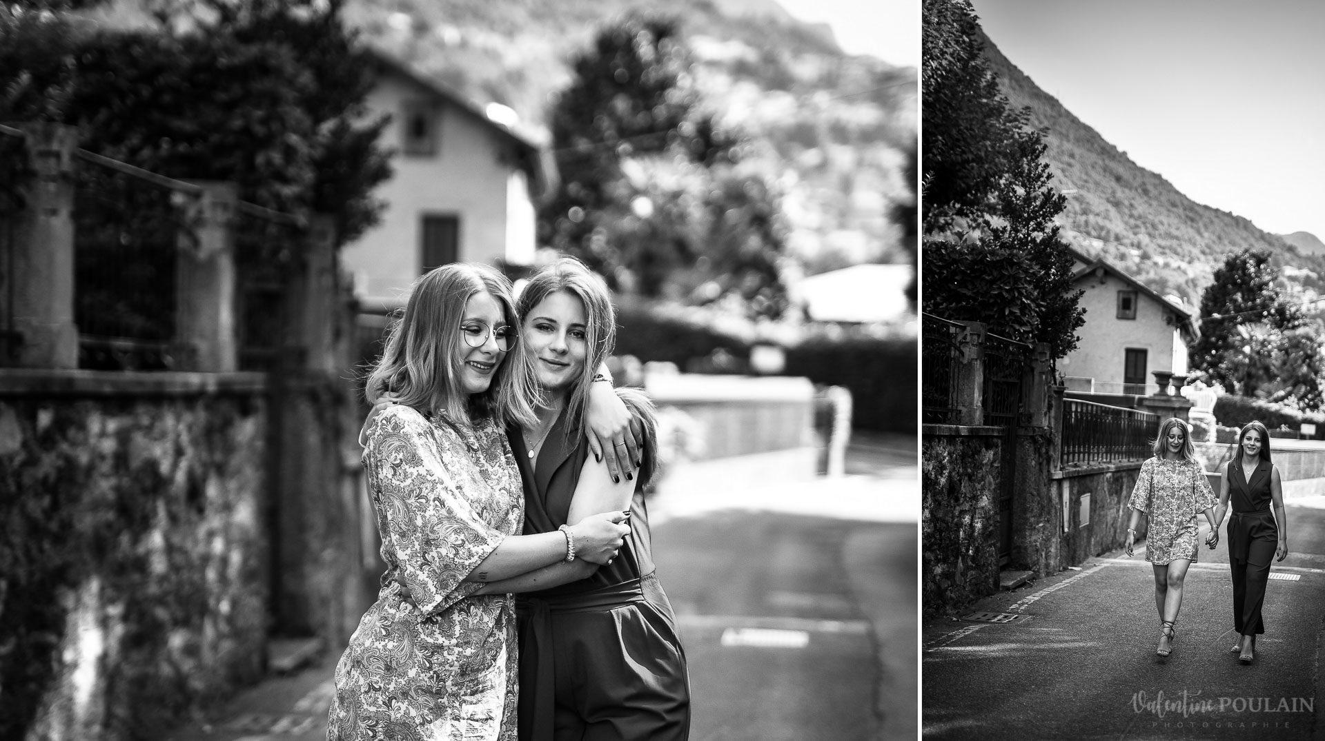 Shooting soeurs Italie - Valentine Poulain noir et blanc