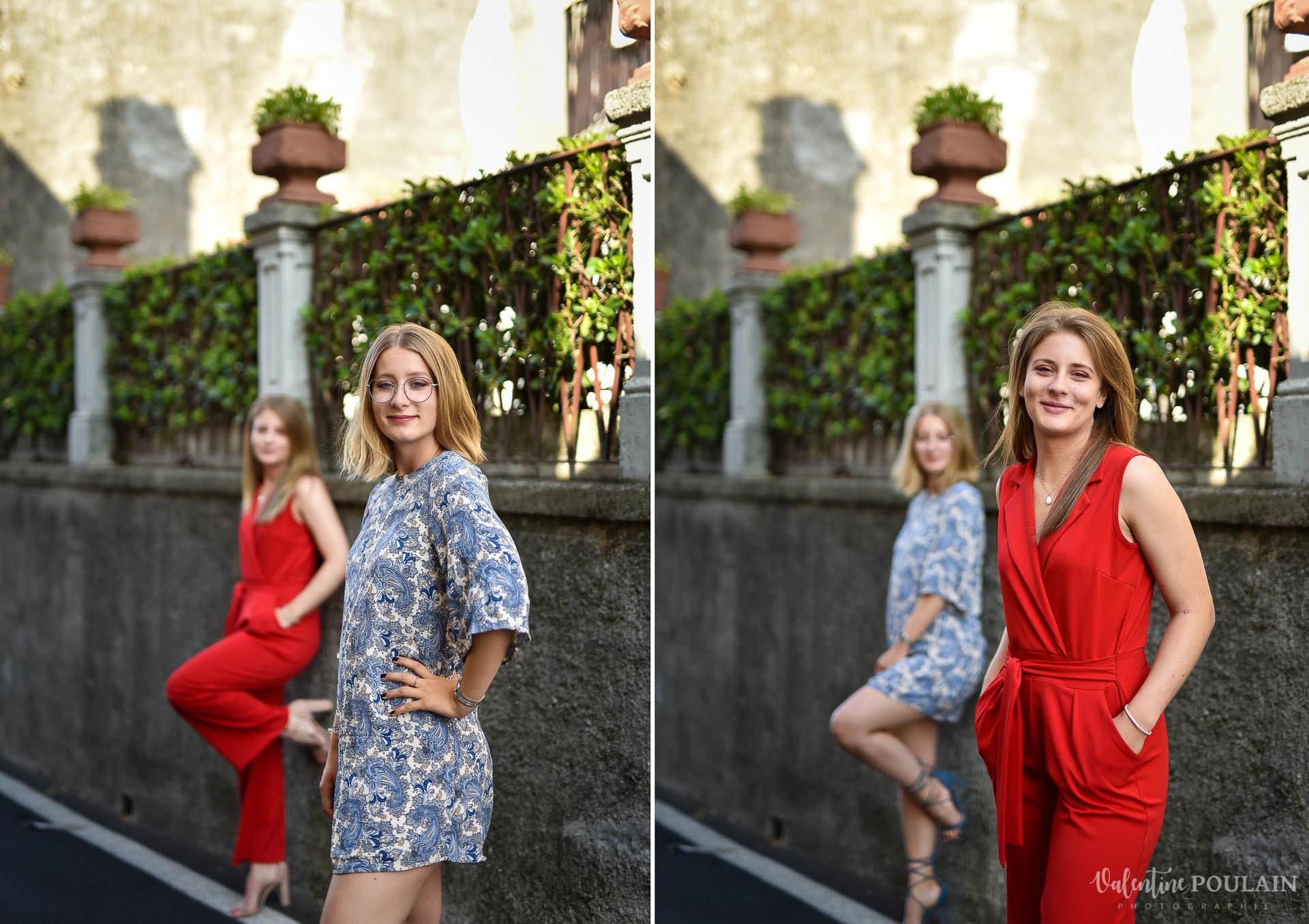 Shooting soeurs Italie - Valentine Poulain poses