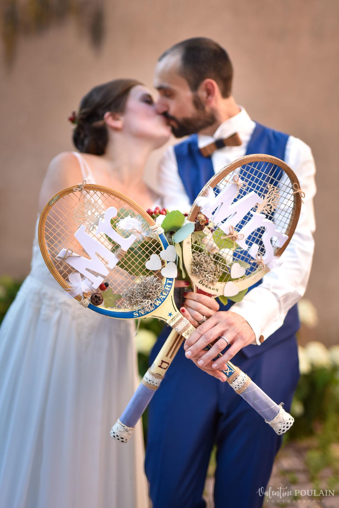 Tennis mariage raquettes - Valentine Poulain