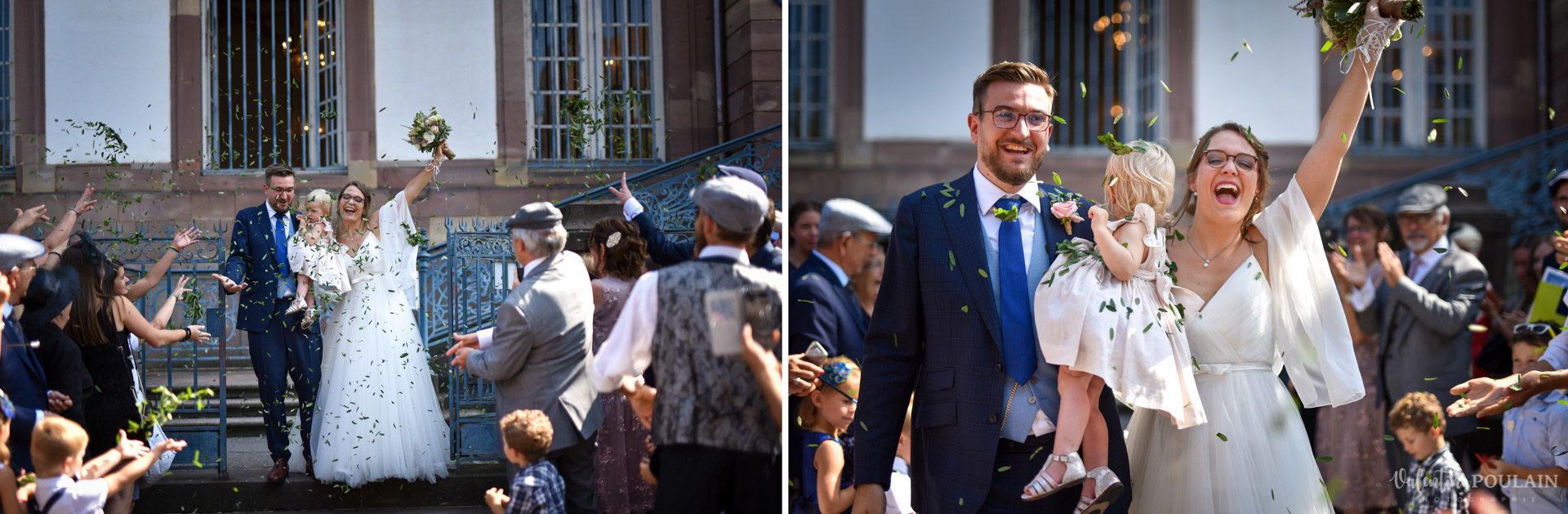 Ceremonie laique années20 - Valentine Poulain sortie mairie
