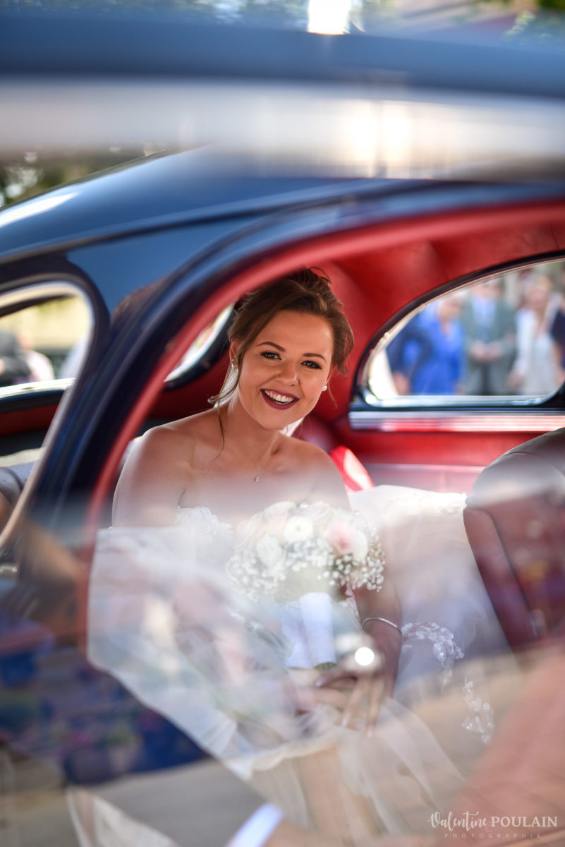 Mariage cool ferme weyerbach - Valentine Poulain voiture
