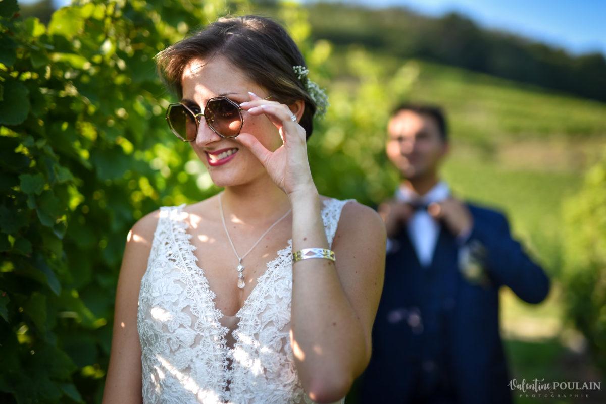 Mariage romantique Domaine Beaupré - Valentine Poulain lunettes