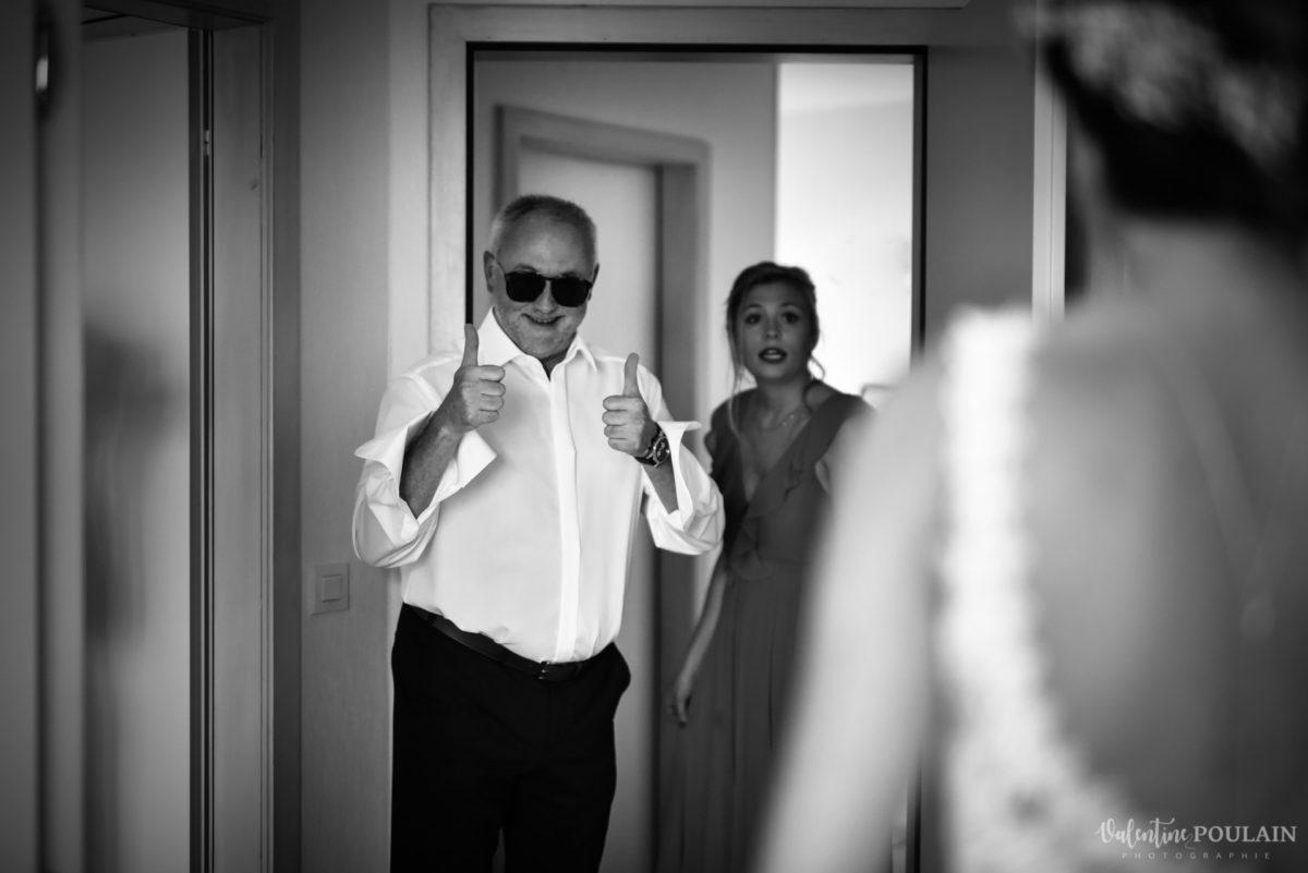 Mariage romantique Domaine Beaupré - Valentine Poulain père