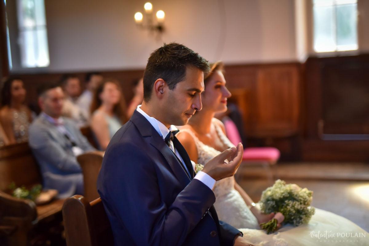 Mariage romantique Domaine Beaupré - Valentine Poulain pleure