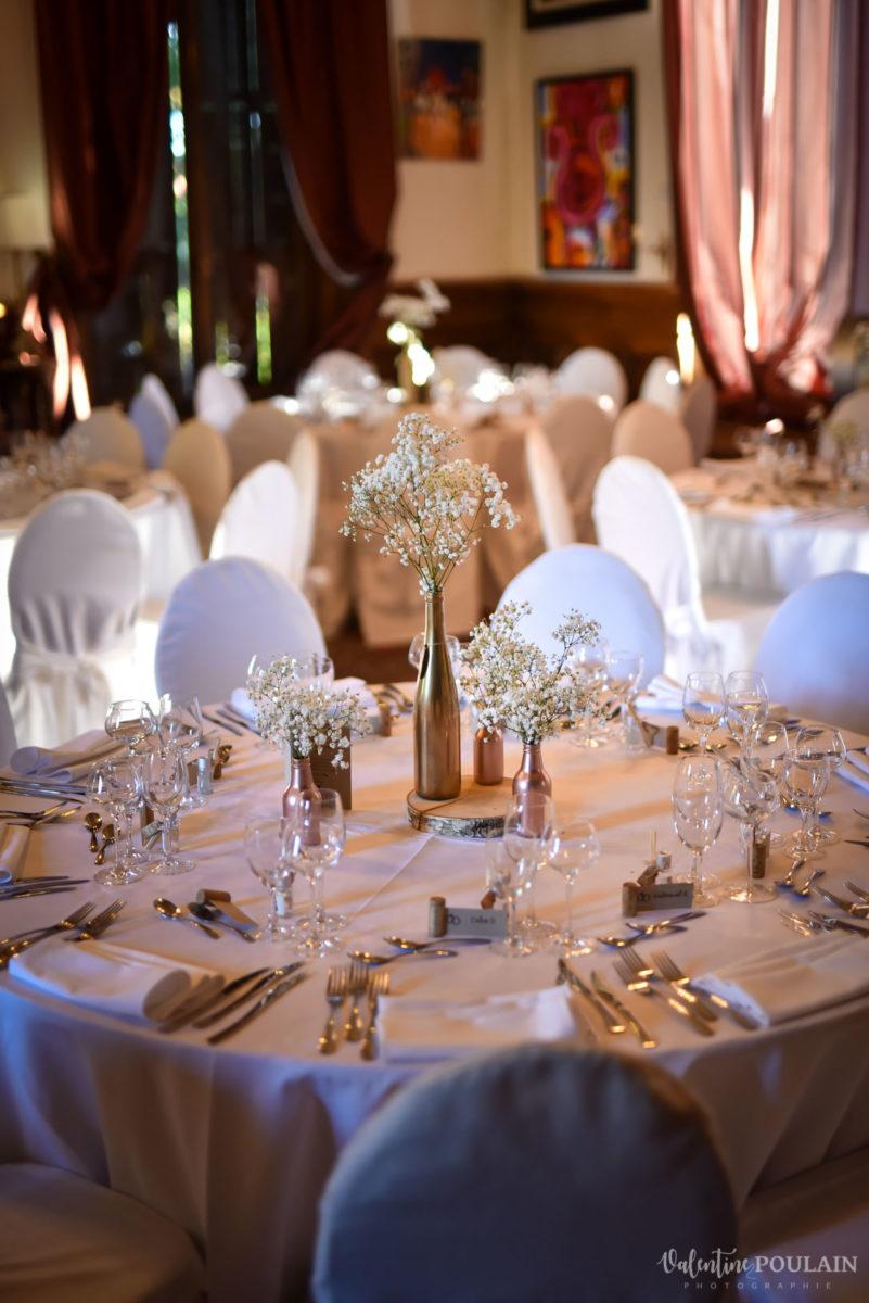 Mariage romantique Domaine Beaupré - Valentine Poulain table