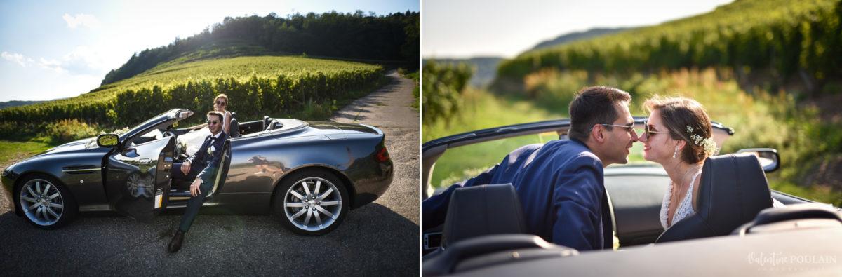 Mariage romantique Domaine Beaupré - Valentine Poulain voiture