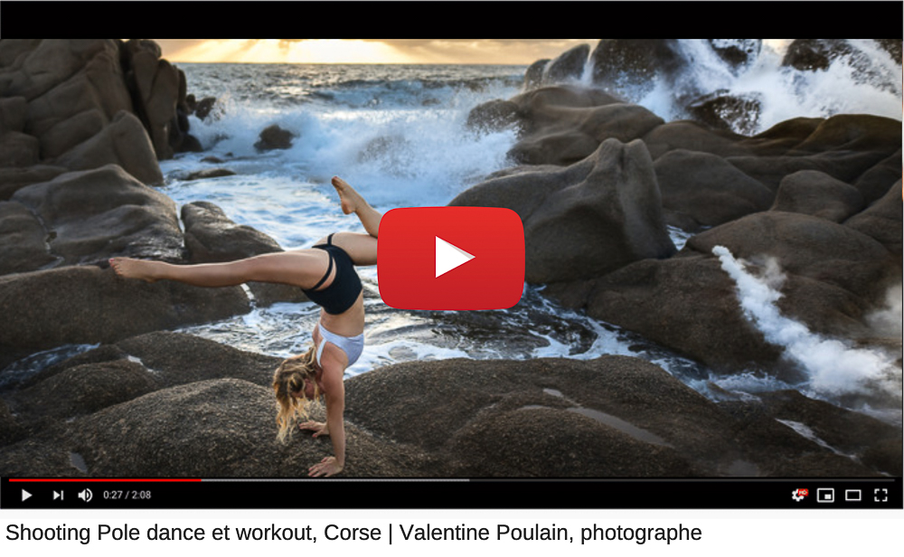 Behind the scenes shooting sport Corse - Valentine Poulain youtube
