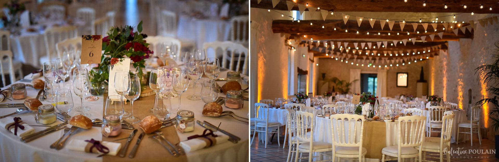 Mariage lieu insolite Paris -Valentine Poulain Domaine de Brunel table
