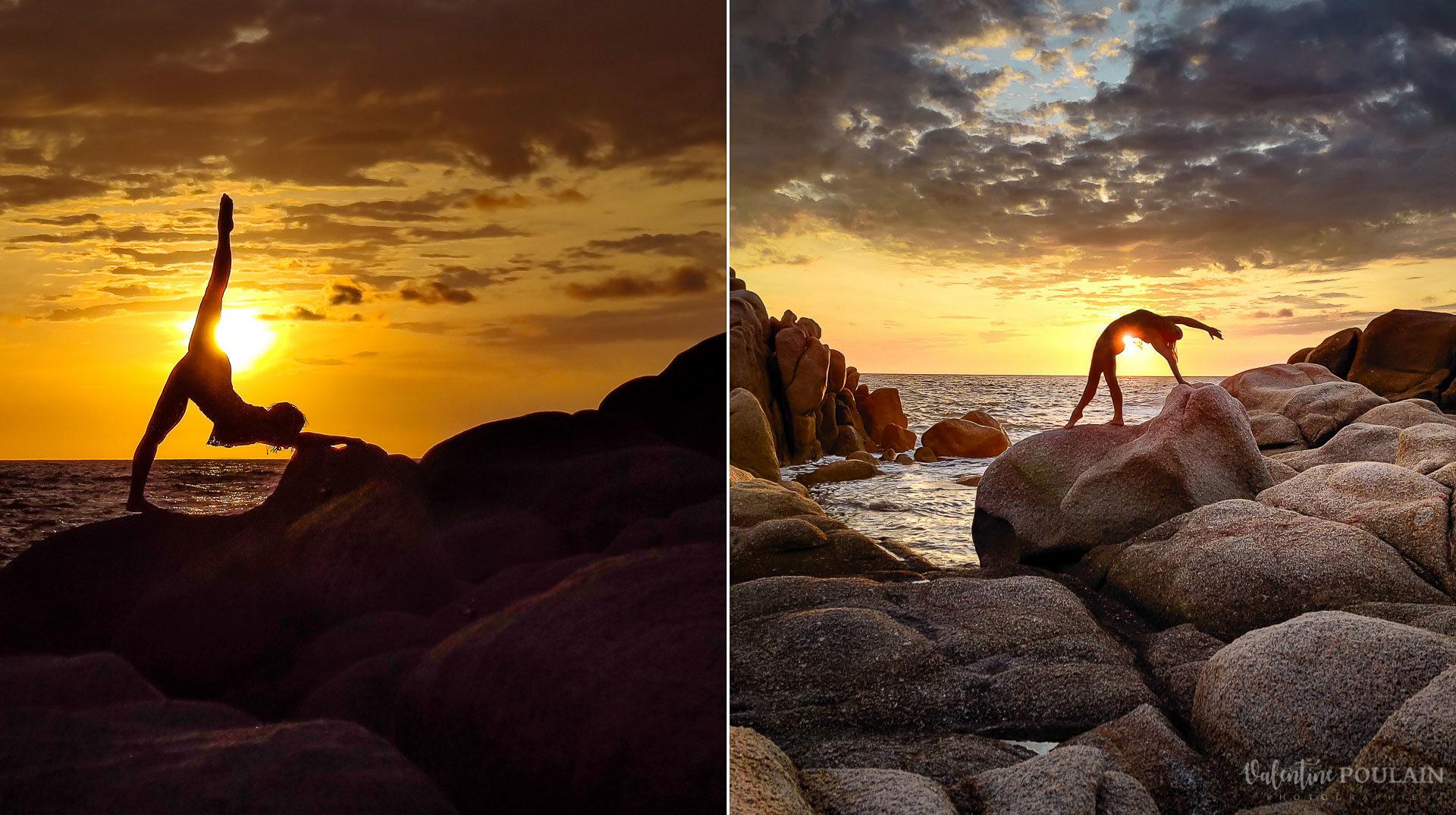 Shooting pole dance Corse Portrait - Valentine Poulain sunset