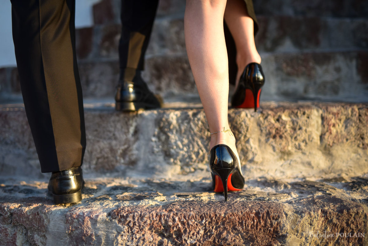 Shooting photo day after Santorin - Valentine Poulain louboutins