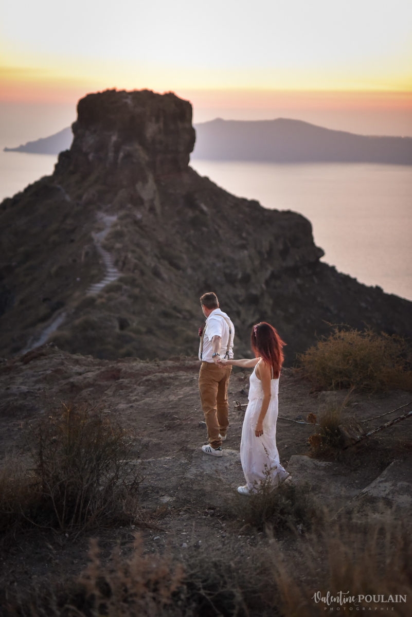 Shooting photo day after Santorin - Valentine Poulain marcher