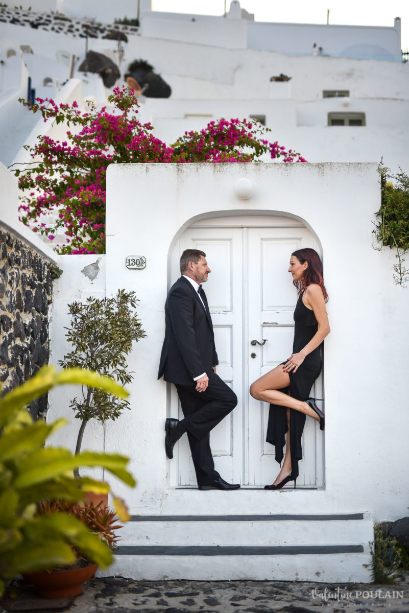 Shooting photo day after Santorin - Valentine Poulain mr and mrs