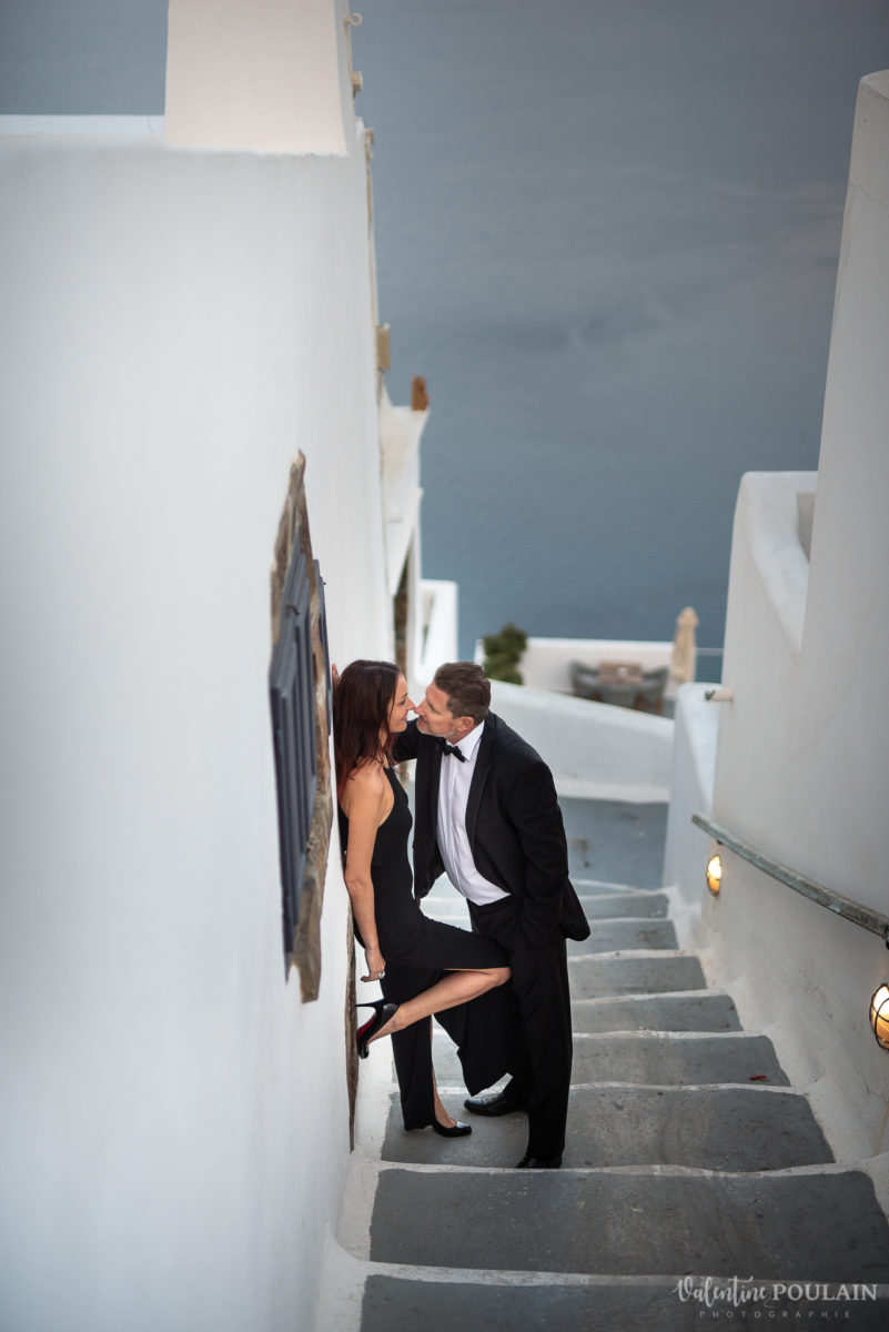 Shooting photo day after Santorin - Valentine Poulain mr & mrs