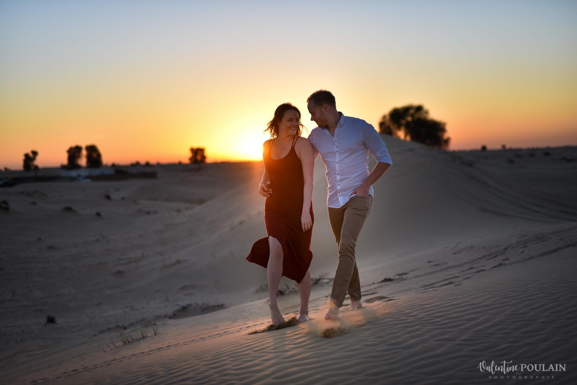 Demande en mariage Désert Dubaï - Valentine Poulain
