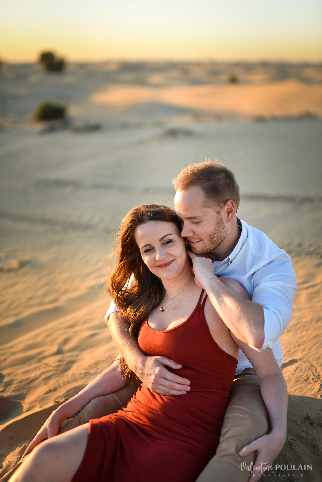 Demande en mariage Désert Dubaï - Valentine Poulain posés