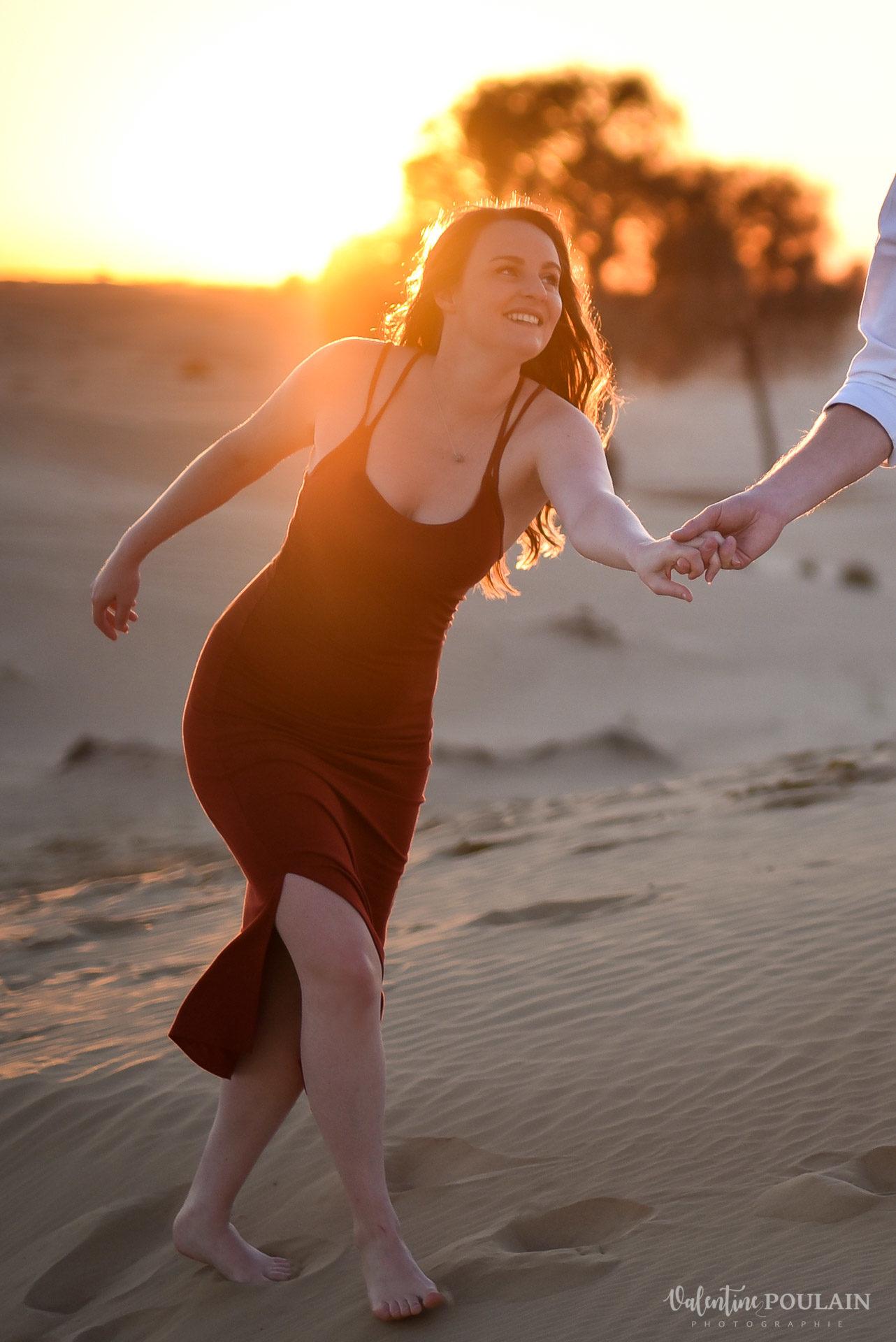 Demande en mariage Désert Dubaï - Valentine Poulain sun