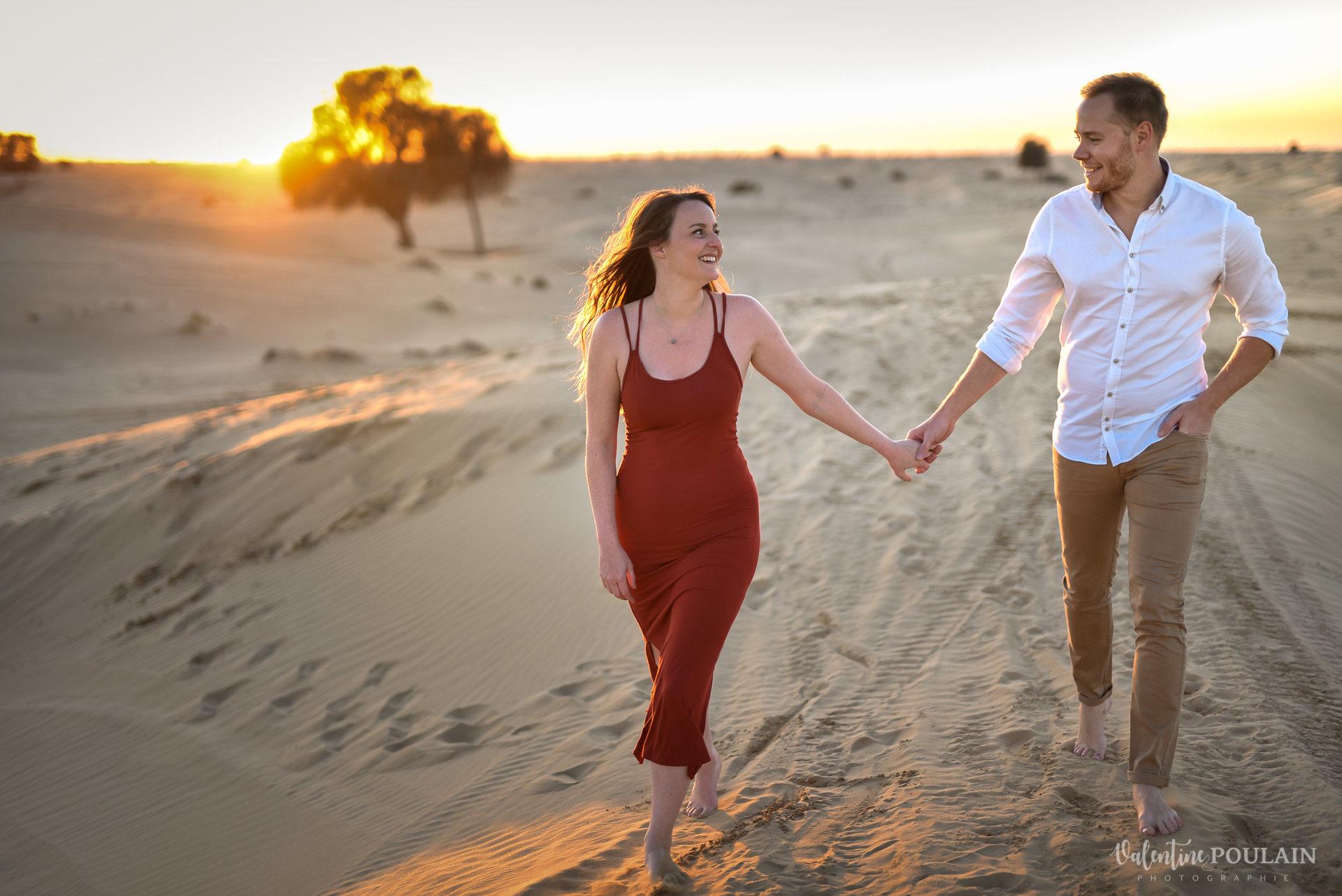 Demande en mariage Désert Dubaï - Valentine Poulain regards