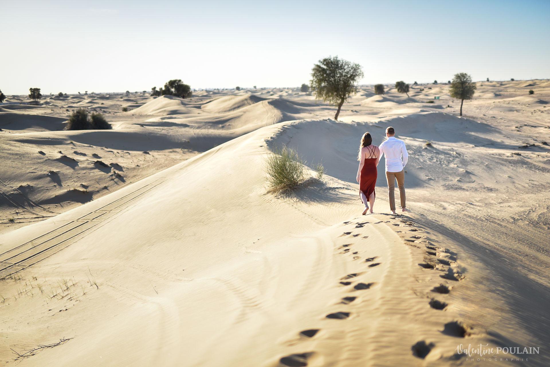 Demande en mariage Désert Dubaï - Valentine Poulain avancer