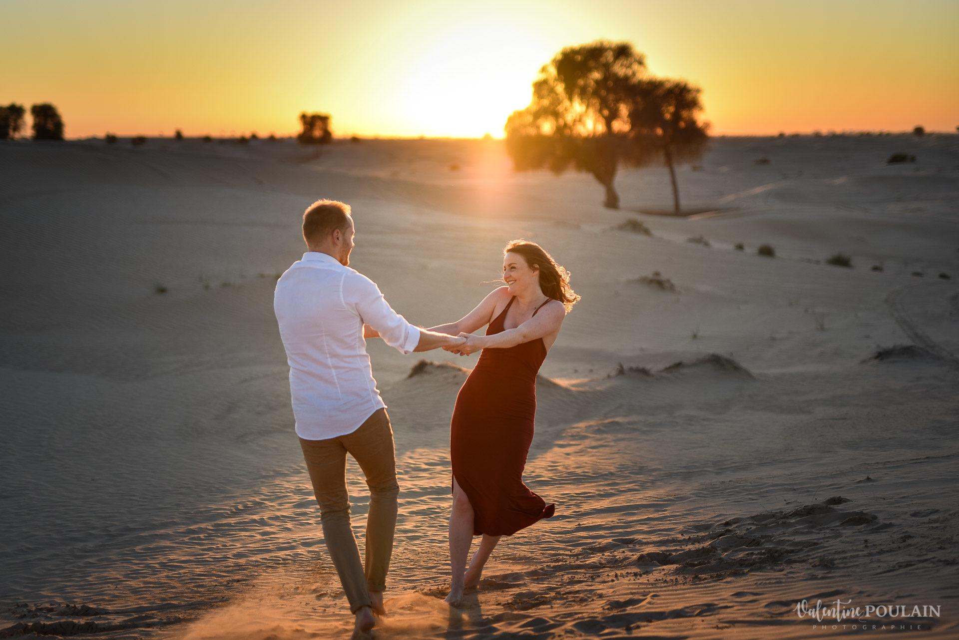 Demande en mariage Désert Dubaï - Valentine Poulain tour