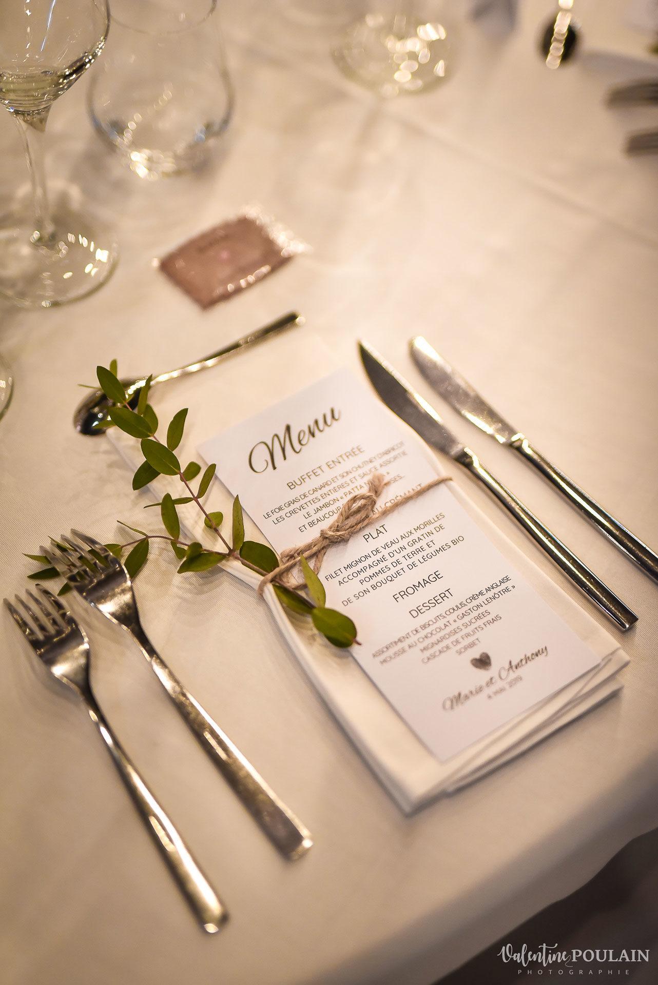 Mariage cité du train menu - Valentine Poulain