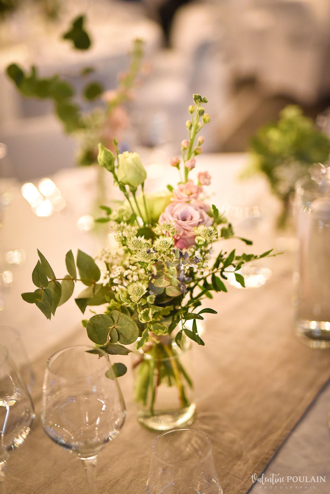 Mariage cité du train fleur table - Valentine Poulain