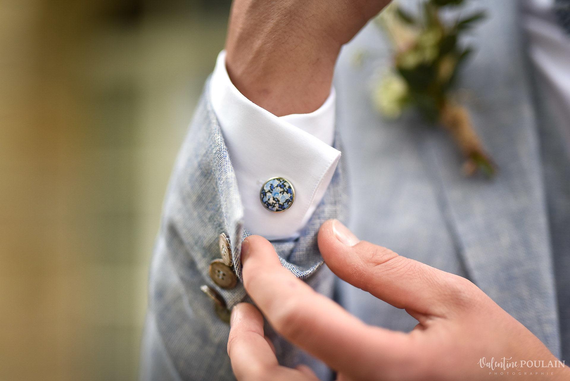 Mariage cité du train bouton manchette - Valentine Poulain