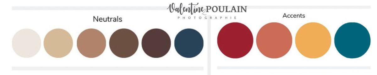 Palette couleurs automne - Valentine Poulain