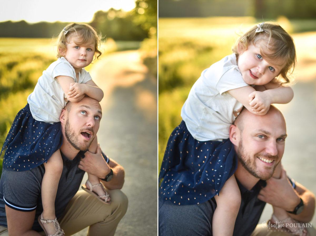 Séance photo Famille champs blé - Valentine Poulain père et fille