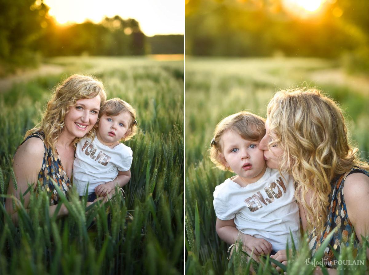 Séance photo Famille champs blé - Valentine Poulain portrait enfant