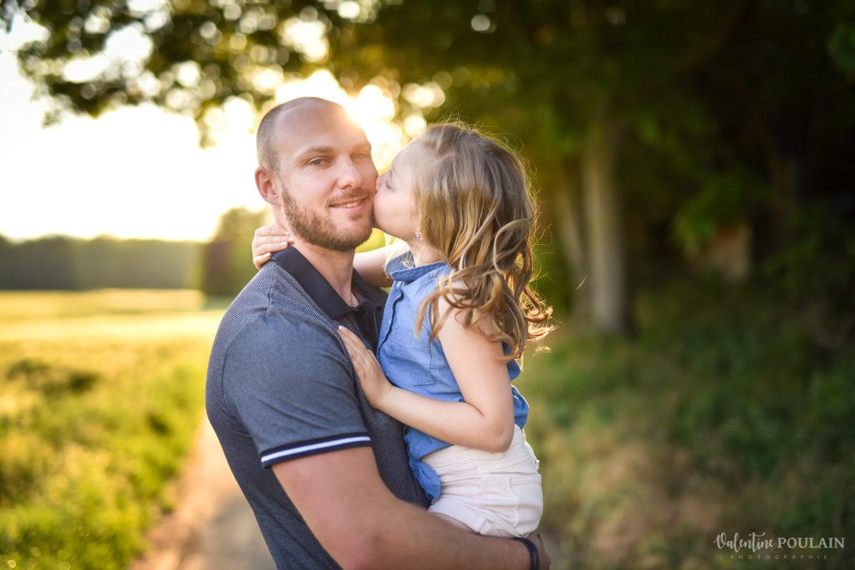 Séance photo Famille champs blé - Valentine Poulain papa