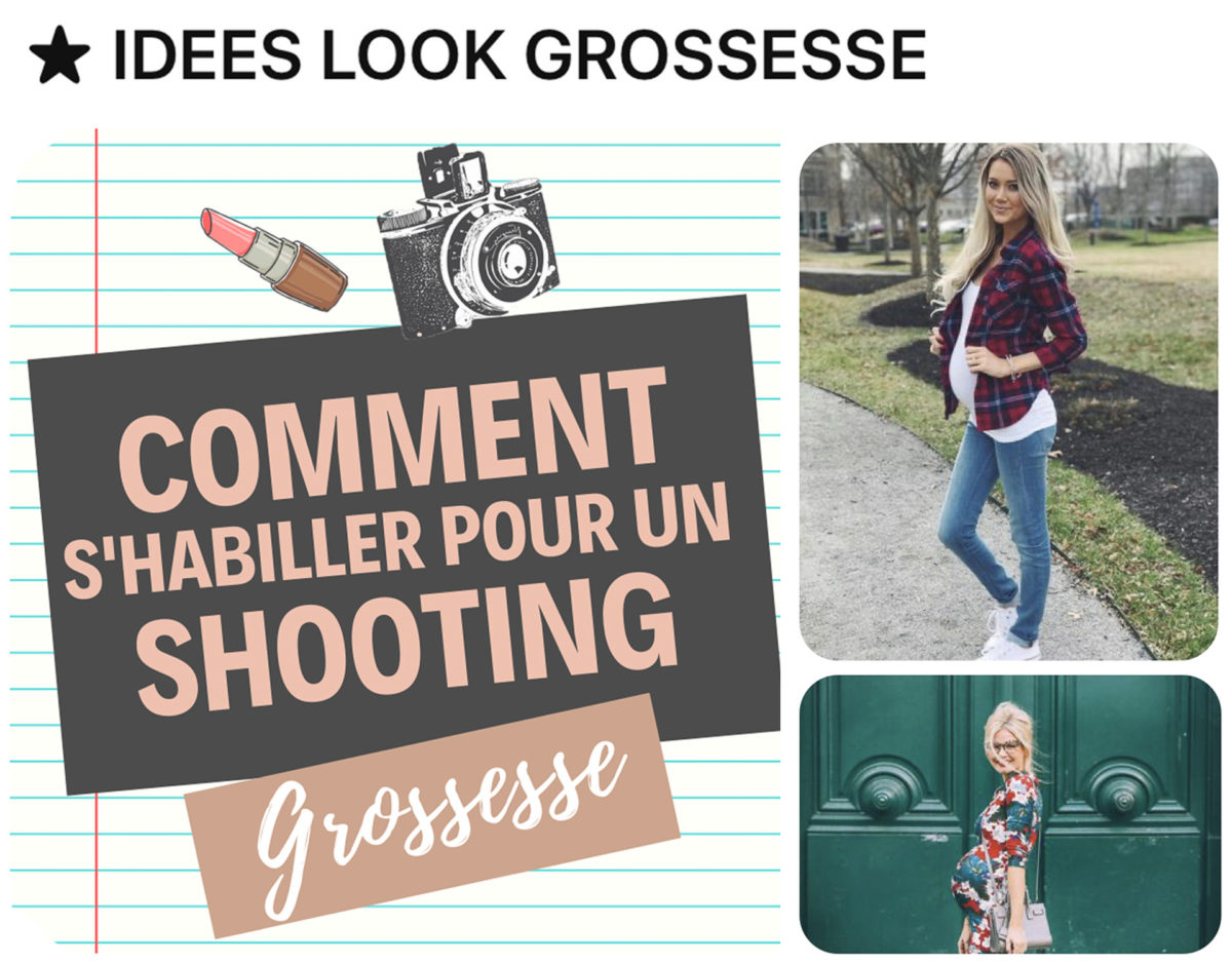 inspirations tenues shooting grossesse