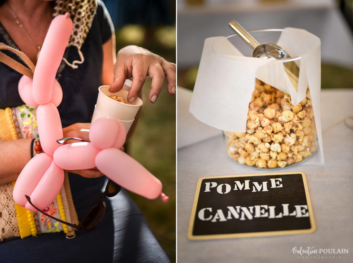 Mariage fun kermesse party - Valentine Poulain pop corn