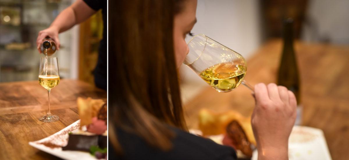 degustation detail photo corporate Domaine vigneron - Valentine Poulain