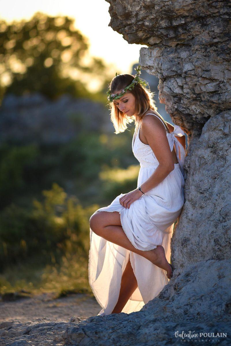 shooting portrait roches provence - Valentine-Poulain