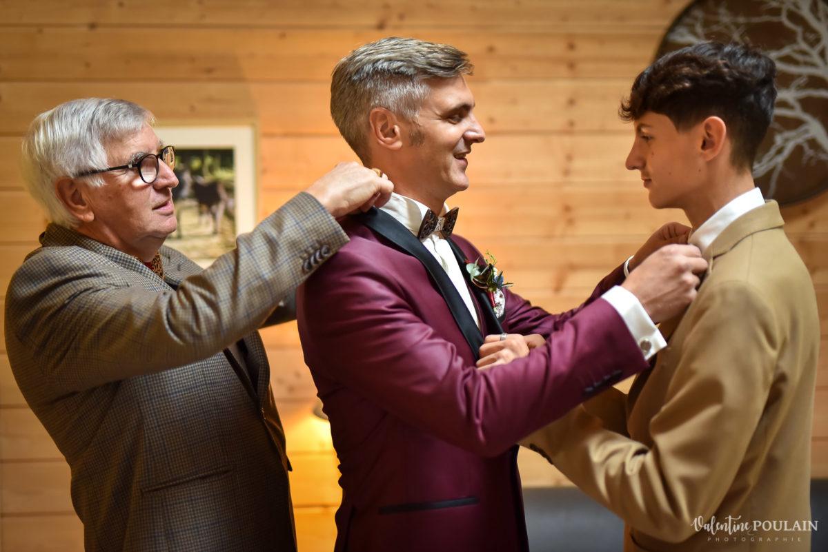 Mariage rock automne Domaine du Hirtz - Valentine Poulain préparatifs mariés