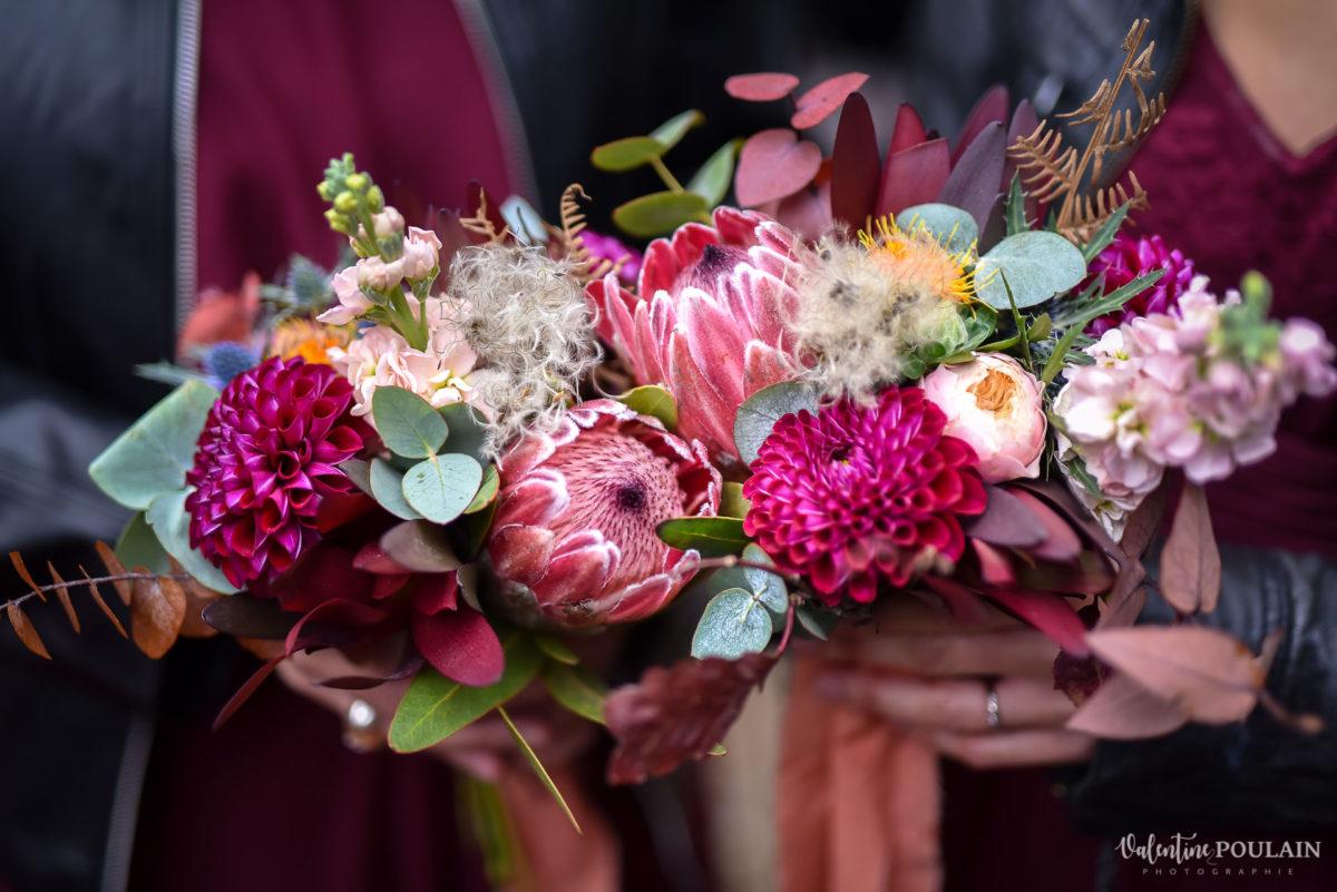 Mariage rock automne Domaine du Hirtz - Valentine Poulain fleurs