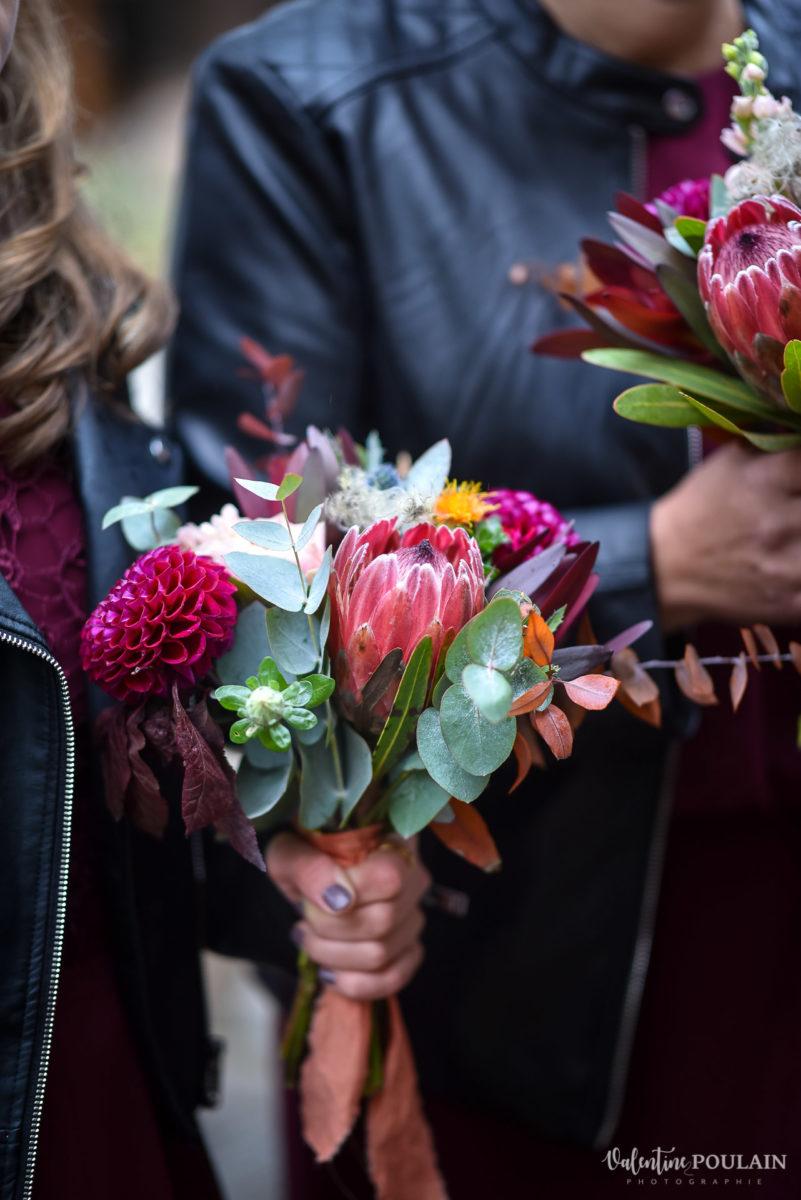 Mariage rock automne Domaine du Hirtz - Valentine Poulain fleur demoiselles d'honneur