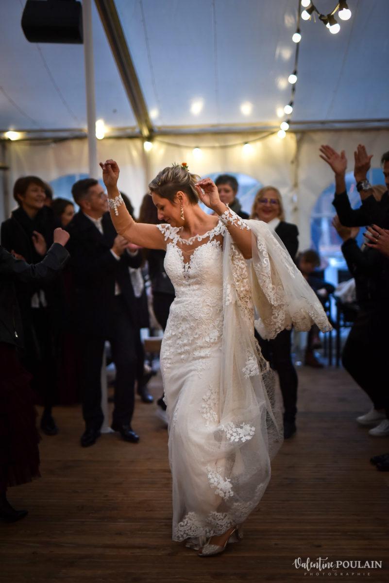 Mariage rock automne Domaine du Hirtz - Valentine Poulain danse
