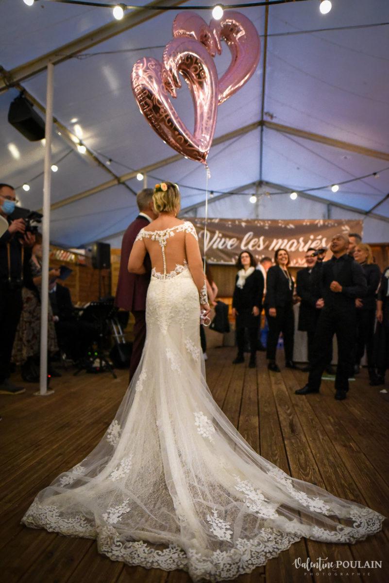 Mariage rock automne Domaine du Hirtz - Valentine Poulain robe soirée