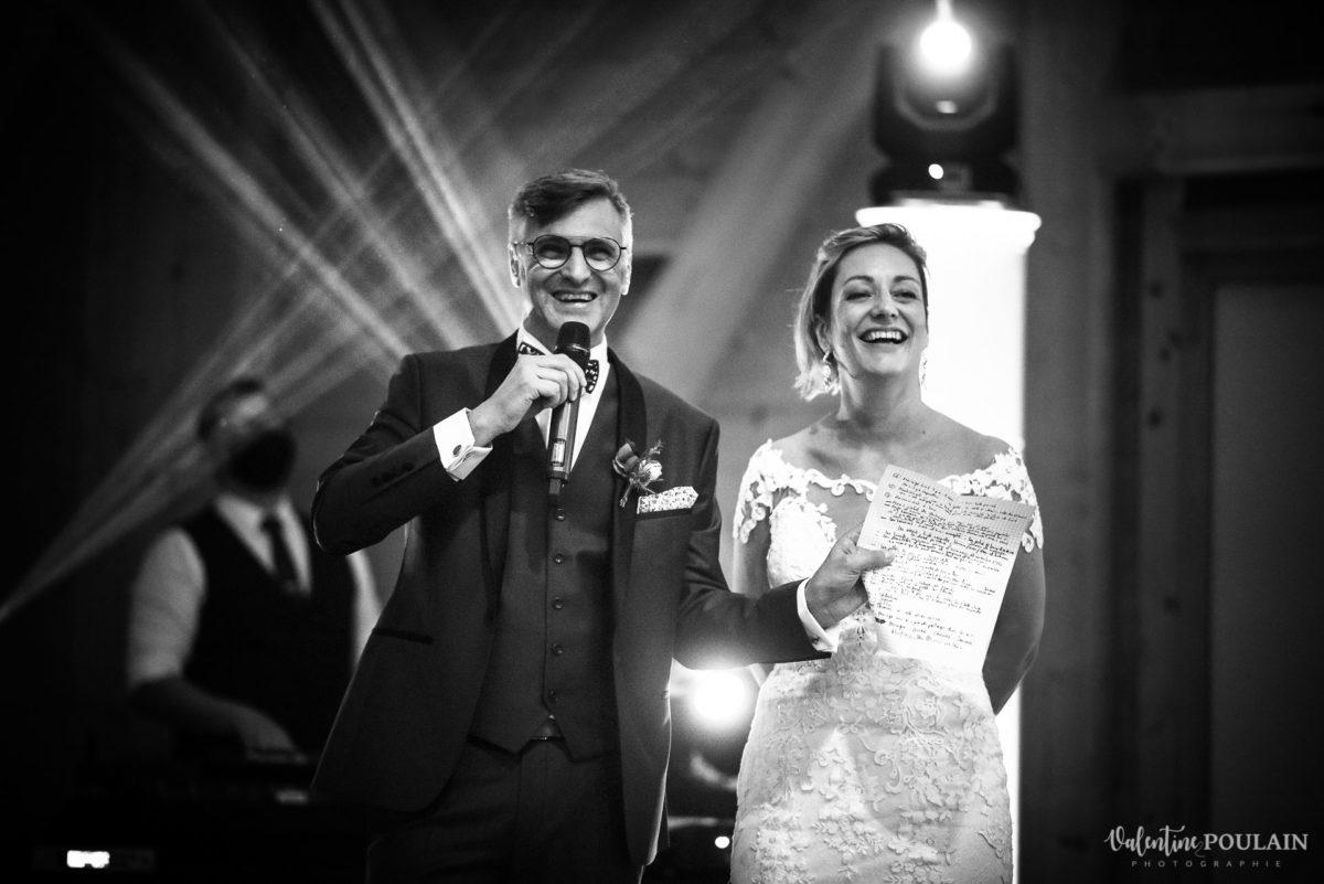 Mariage rock automne Domaine du Hirtz - Valentine Poulain soirée discours fun