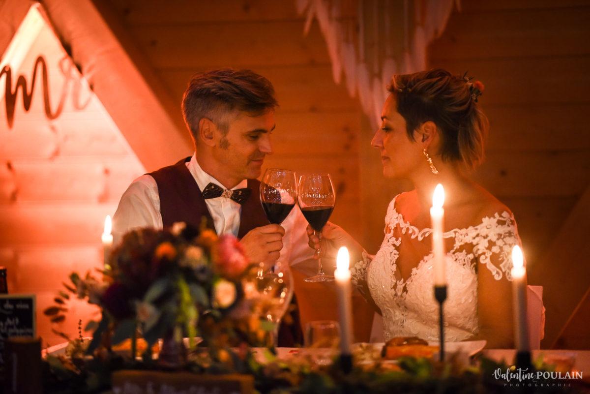 Mariage rock automne Domaine du Hirtz - Valentine Poulain tchin