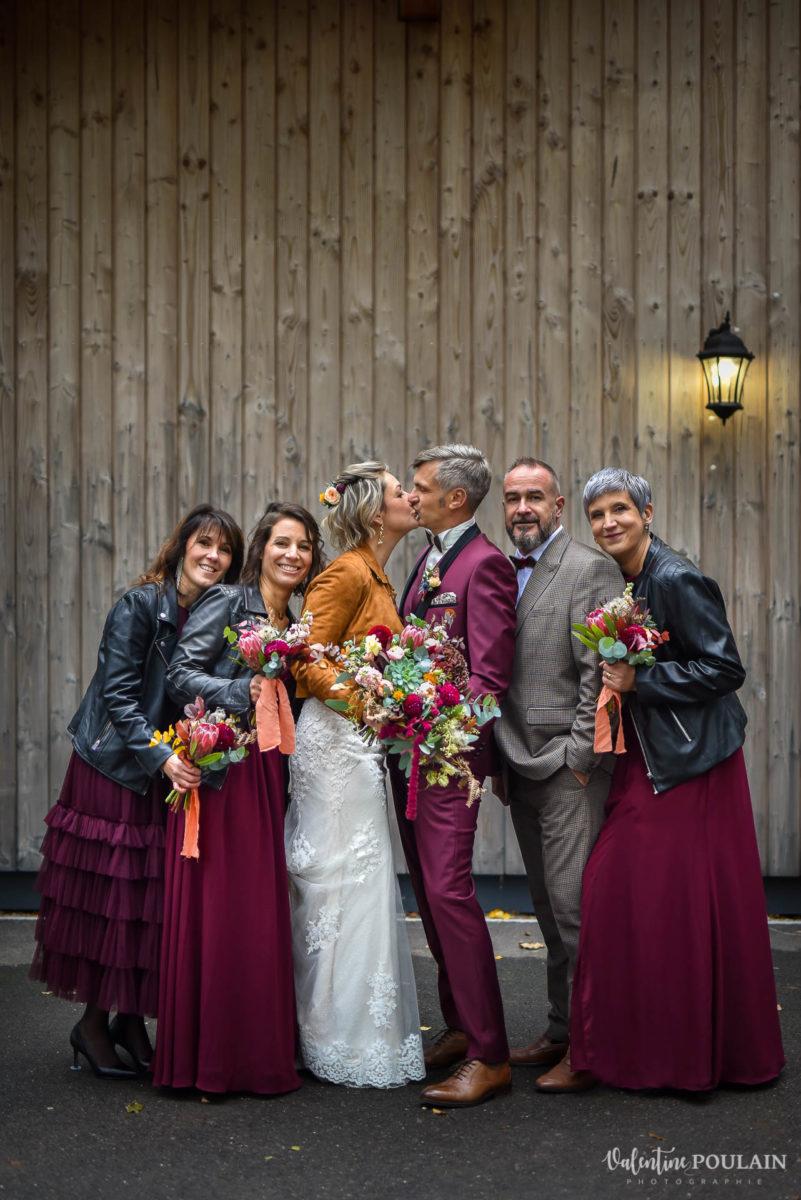Mariage rock automne Domaine du Hirtz - Valentine Poulain témoin
