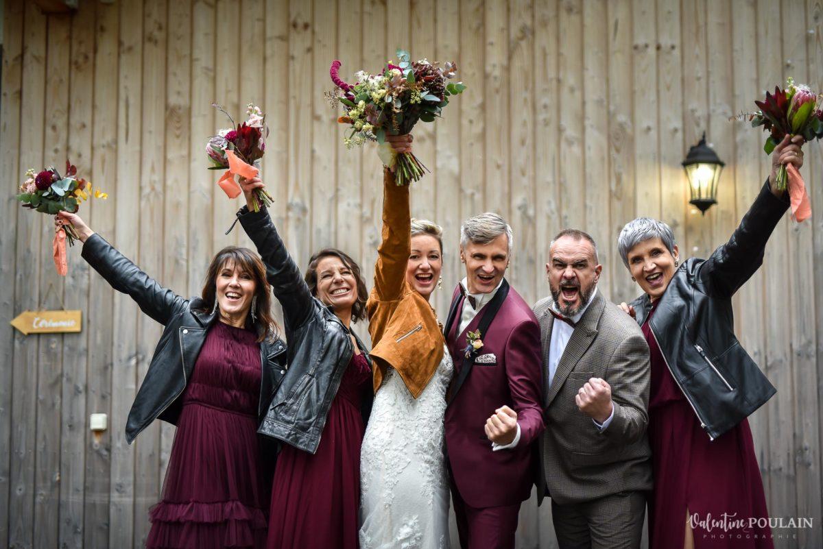 Mariage rock automne Domaine du Hirtz - Valentine Poulain témoin fun