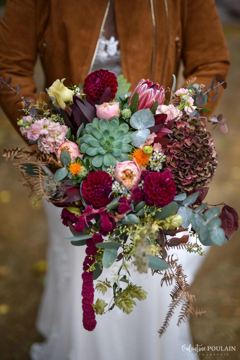Mariage rock automne Domaine du Hirtz - Valentine Poulain bouquet