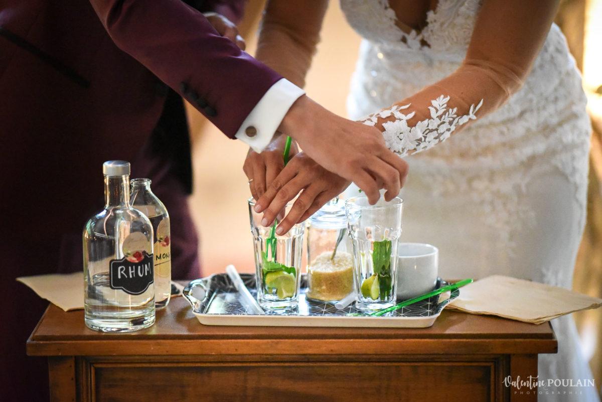 Mariage rock automne Domaine du Hirtz - Valentine Poulain cérémonie laïque -mojito cocktail
