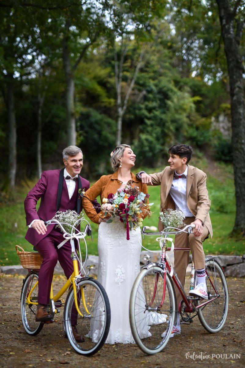 mariage rock domaine du Hirtz - Valentine Poulain-velos-famille