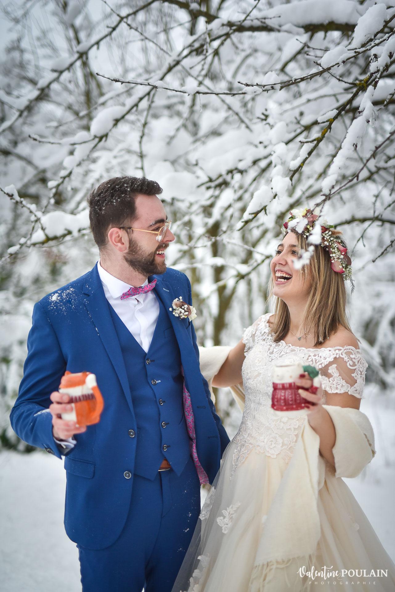 Se marier en hiver sous la neige - Valentine Poulain fou-rires
