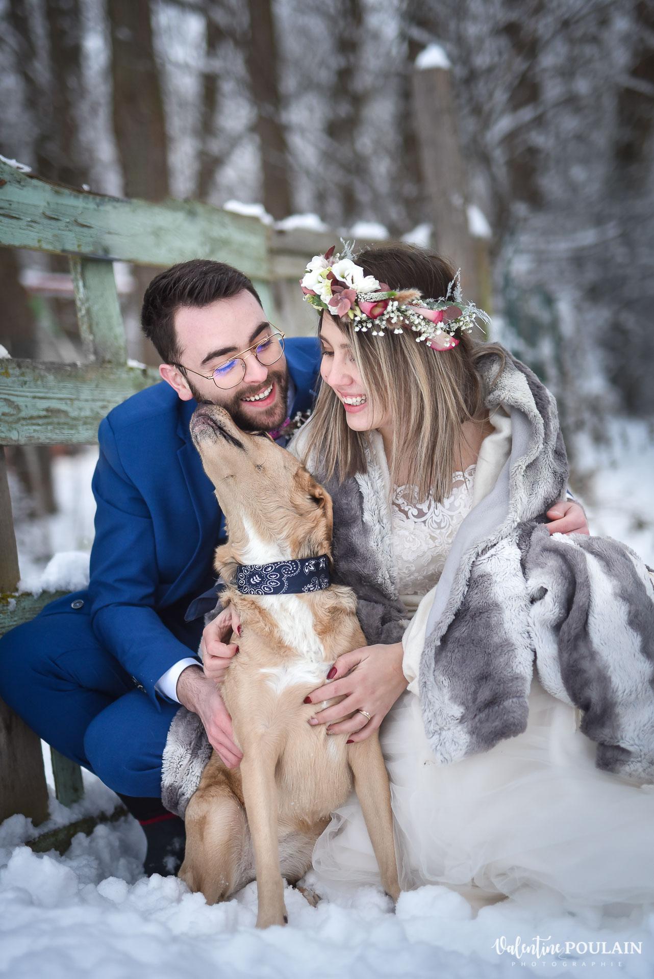 Se marier en hiver sous la neige - Valentine Poulain animal